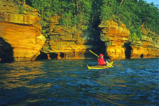 Sandstone Cliffs and Sea Caves