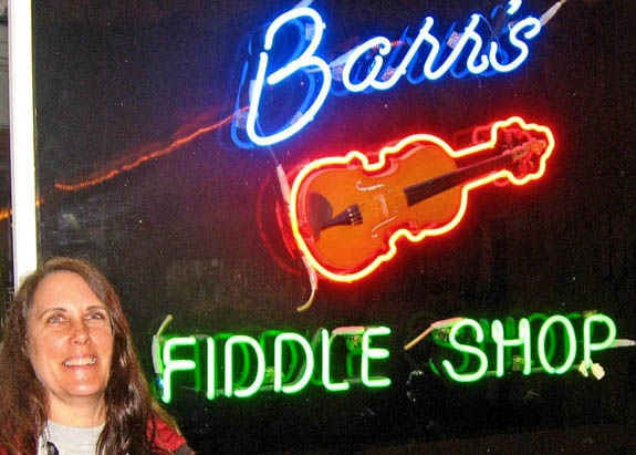 Tess at Barr's Fiddle Shop