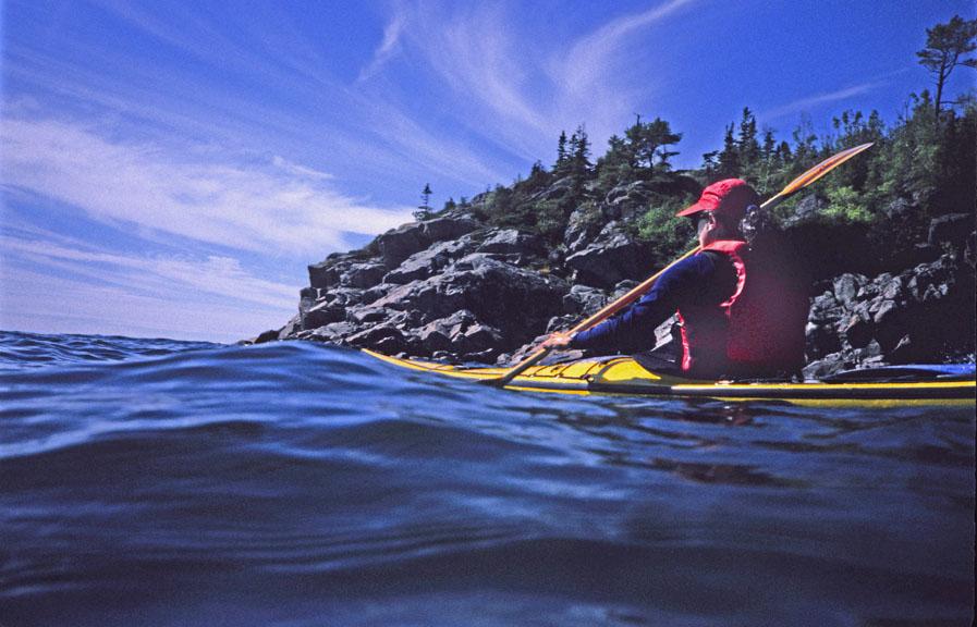 Traveling the Pukaskwa Coast Lake Superior Ontario