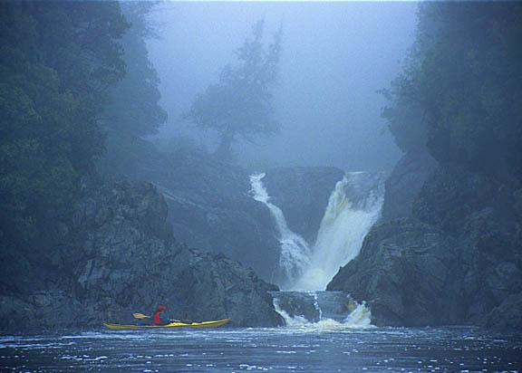 Magpie River plunges into Lake Superior, Ontario