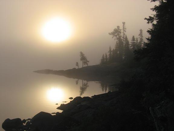 Obatanga Lake Sunrise Ontario, Canada
