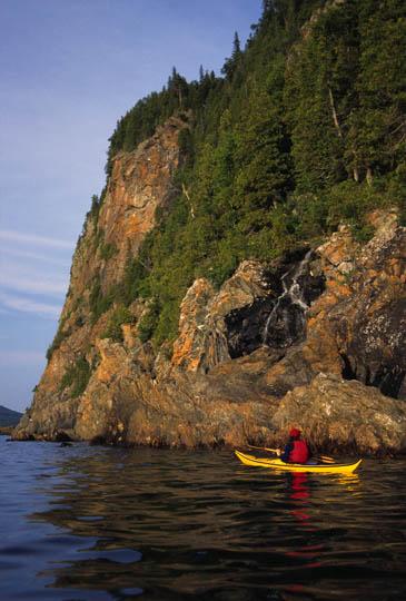 Approaching Old Woman Bay Lake Superior, Ontario