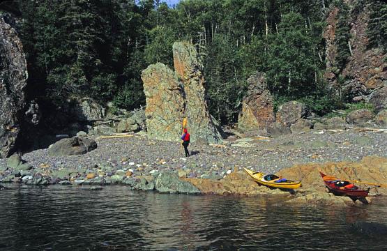 Ancient Sea Stacks Slate Islands Lake Superior, Ontario