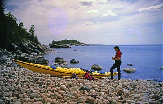 Cobble Beach near Terrace Bay Lake Superior, Ontario