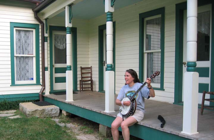 Tess at Bill Monroe's house