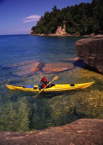 Trout Bay on Grand Island Lake Superior, Michigan